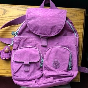 Kipling Firefly Large Backpack Purple